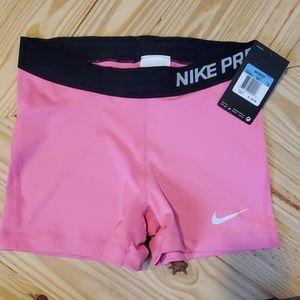 NWT Nike Pro Combat Pink Compression Shorts M